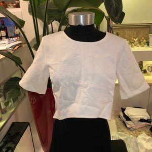 MOTEL White Top & Skirt Set